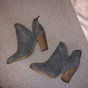 Gray Vince Camuto booties